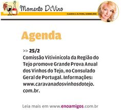#cvrtejo #winesoftejo #vinhosdotejo CVR TEJO no jornal A Tribuna, Santos   Momento DiVino   Fevereiro de 2016   Grande Prova   Brasil.