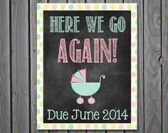 Custom Printable Chalkboard Pregnancy by ChalkingItUpBoards, $5.00