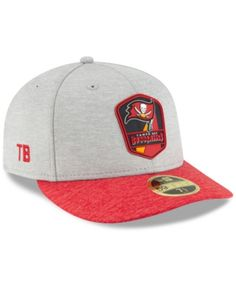 47fd89cbcfa New Era Tampa Bay Buccaneers On Field Low Profile Sideline Road 59FIFTY  Fitted Cap - Gray