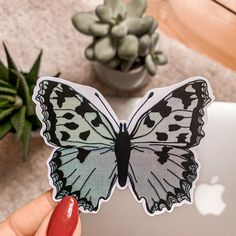 This is my handmade and waterproof Vinyl-Sticker Sticker Shop, Art Drawings Sketches, Pencil, Butterfly, Stickers, Vintage, Handmade, Shopping, Etsy