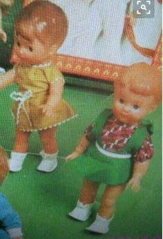 Dolls, Retro, Mini, Baby Dolls, Puppet, Doll, Retro Illustration, Baby, Girl Dolls