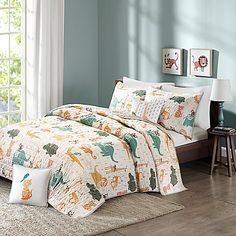 Incorporate jungle animals into your stylish bedroom decor with this INK+IVY Kids Jacala duvet cover set. In multi. Kids Comforter Sets, Bedding Sets, Full Duvet Cover, Duvet Cover Sets, Stylish Bedroom, Quilt Sets, Bed Spreads, Comforters, Bedroom Decor