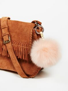 Faux Fur Pompom Bag Charm $16.00 Color: Blush
