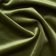 Olive Green Cotton Velvet Curtain - 54W x 84L