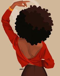 Black Love Art, Black Girl Art, Art Girl, Black Art Painting, Black Artwork, Arte Van Gogh, Afro Art, Magic Art, Dope Art
