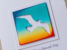 Dies: Sizzix Squares, IO: Sea Birds Stamps: Altenew Persian Motifs, Sweet Kobylkin:
