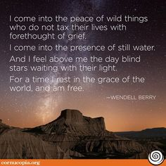 We love farmers. Share if you agree!. Learn more about farmer Wendell Berry here.