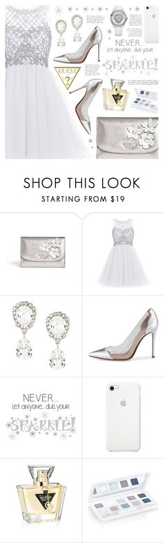 """""""Guess"""" by becky12 ❤ liked on Polyvore featuring Dolce&Gabbana, Gianvito Rossi, GUESS, Winter, partydress and winterstyle"""