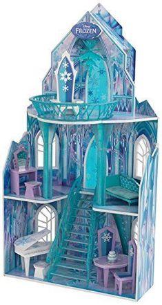 Frozen Dollhouse Ice Castle Disney Elsa Palace Playset Anna Princess Mansion New #FrozenDollhouseIceCastle