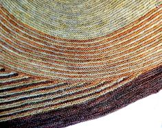 Color Affection shawl Tosh Merino Light in Olivia and Ginger and Malabrigo Sock in Arbol