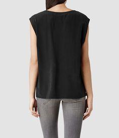 Womens Basia Top (Black) | ALLSAINTS.com