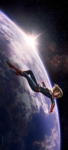 Floating on a Cosmic-Wave Ms Marvel, Marvel Comics, Mundo Marvel, Marvel Girls, Marvel Heroes, Marvel Universe, The Avengers, Captain Marvel Carol Danvers, Avengers Wallpaper