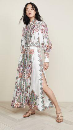 Ivory Paisley Print Belted Maxi Dress, S / Paisley Print Vogue Fashion, China Fashion, Boho Fashion, Fashion Dresses, Size 0 Models, Estilo Hippy, Glamorous Dresses, Stylish Dresses, Paisley Print Dress