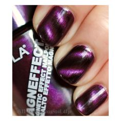 Layla Magneffect Magnetic Nail Polish Swatches & Review | All... ❤ liked on Polyvore