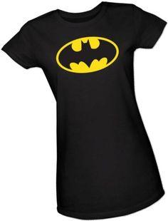 Batman Classic Logo Crop Sleeve Fitted Juniors T-Shirt, Medium DC Comics,http://www.amazon.com/dp/B00589DH8A/ref=cm_sw_r_pi_dp_nr2osb1P4NG0E9WE