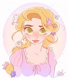 More Rapunzel, more awesomeness from David Gilson.
