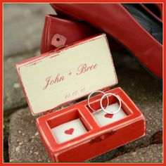 Ring boxes wedding ring box and personalized rings on pinterest