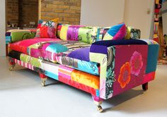 Rainbow Vintage Fabric Furniture