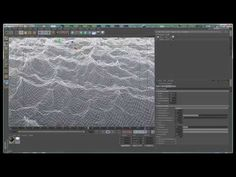 Tutorial: Creating Realistic Water Surfaces in Cinema with hot Cinema 4d Tutorial, 3d Tutorial, Digital Art Tutorial, Photoshop Tutorial, Web Design, Graphic Design, V Ray Materials, Video L, Modeling Tips