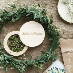 Wood box for rings.  Wedding