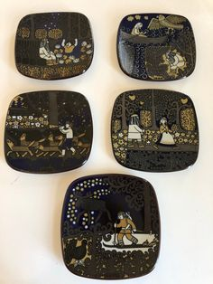 Excited to share this item from my shop: Arabia collectable plates by Raija Uosikkinen 5 years available 1977 1978 1979 1980 1981 Swedish Christmas, Hand Wrap, Coffee Set, Candlestick Holders, Hanging Tapestry, Retro Design, I Am Happy, 5 Years, Scandinavian