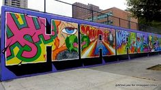 The tour ended at East Harlem's Graffiti Hall of Fame on 106th Street, just east of Madison Avenue at the Jackie Robinson Educational Center and around the corner from El Museo Del Barrio.  The tour lasted about an hour and a half and encompassed about four square blocks