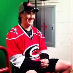 "Skinner laughing during the filming of an ""Ask the #Canes"" video. #ItsTime"