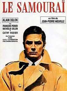 Le Samouraï (1967) by Jean-Pierre Melville, starring Alain Delon, François Périer,Nathalie Delon and Cathy Rosier. Story: about a perfectionist free-agent hitman who religiously adheres to a strict code of duty.