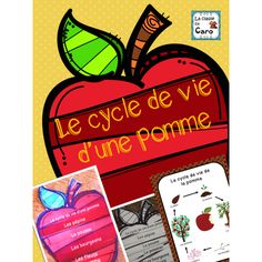 Le cycle de vie d'une pomme (Imprimable) French Teaching Resources, Teaching French, Core French, French Class, Tree Life Cycle, Tree Drawing Simple, Teacher Helper, Apple Art, Tree Graphic