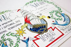 Nautical Birth Certificate  Tattoo Art by fayeandco on Etsy, $74.99
