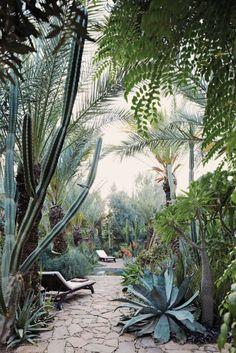 Garden at Dar Al Hossoun in Taroudant, Morocco / NY Times