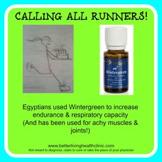 """For all my """"Runner Friends!"""" Young living wintergreen oil. #runners #musclerelief#wintergreen www.theoildropper.com"""