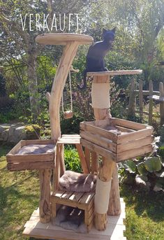other trees sold - natural wooden trees for cats - scratching post - . other trees sold – natural wooden trees for cats – scratching post – # trees Canis, Diy Cat Tree, Cat Trees, Cat Enclosure, Cat Playground, Cat Scratching Post, Outdoor Cats, Cat House Outdoor, Cat Room