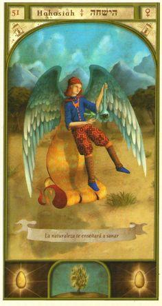 (51) HAHASIAH (Kabbalistic angel) protects those born 03 - 07 December, elevates the soul and allows us to contemplate divine things. (ángel Cabalístico) protege aquellos nacidos 03 - 07 diciembre, eleva el alma y permite contemplar cosas divinas.