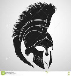 Spartan warrior Helmet vector image on VectorStock Warrior Helmet, Spartan Helmet, Spartan Warrior, Viking Warrior, Warrior Logo, Armour Tattoo, Helmet Tattoo, Spartan Logo, Spartan Tattoo