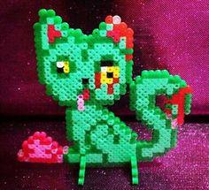 Zombie cat hama bead