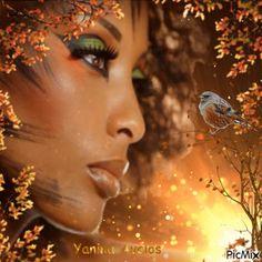 rostro  en otoño