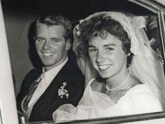 Bobby & Ethel Kennedy on their wedding day