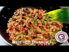 como hacer arroz frito estilo japones. un arroz frito asiatico con unagui o anguila en cocinemosjuntos