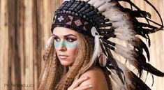 Photo about Woman in war bonnet beauty portrait. Image of feathers, bonnet, headdress - 49729986 War Bonnet, Beauty Portrait, Native Indian, Indian Girls, Headdress, Native American, Captain Hat, Dreadlocks, Stock Photos
