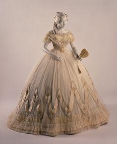 Evening dress ca. 1860-63