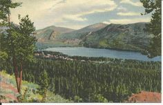 VINTAGE LINEN COLORADO POSTCARD : GRAND LAKE -ROCKY MOUNTAIN NATL.PARK: Unposted
