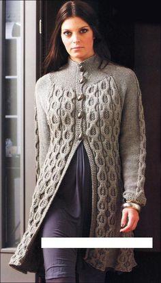 Knitting and Crochet Brazil - Handmade. Nice swingy hem.
