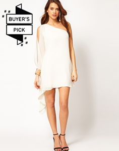 Enlarge ASOS Dress With One Shoulder And Embellished Cuff