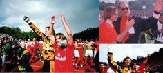 Taça de Portugal de 1995/96. Destaque para Mário Wilson, João Pinto e Michel Preud´Homme.