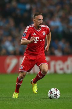 Franck Ribéry in action during the UEFA Champions League group D match between Manchester City and FC Bayern München at Etihad Stadium on October 2, 2013 in Manchester, England.