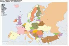 Mapas de Europa para imprimir | laclasedeptdemontse Maps, Social Science