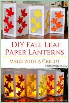 Fall Crafts For Kids, Diy For Kids, Diy And Crafts, Paper Crafts, Paper Lantern Making, Paper Lanterns, Fall Lanterns, Ideas Lanterns, Cricut