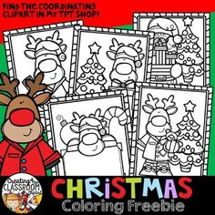 Christmas Coloring Freebie the Classroom} Grab this fun Coloring freebie just in time for the holidays! Free Christmas Coloring Pages, Christmas Coloring Sheets, Cool Coloring Pages, Free Coloring, Colouring, Christmas Border, Christmas Mood, Christmas Colors, Christmas Themes