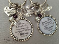 Mother of the Bride Gift, Personalized Bridal Gift, Mother of Groom Set, Today a Bride Keychain, From Us